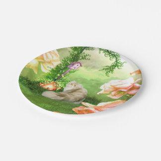 Cute cat paper plate