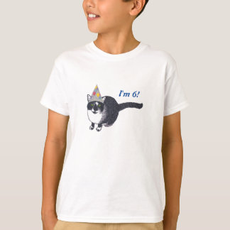 Cute Cat Party Hat Birthday Age Tshirts