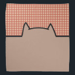 """Cute Cat Pattern Bandana<br><div class=""""desc"""">This is a cute fun cat pattern that makes the perfect gift.</div>"""