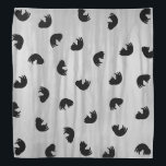 "CUTE Cat Pattern Black and Gray Bandana<br><div class=""desc"">.</div>"