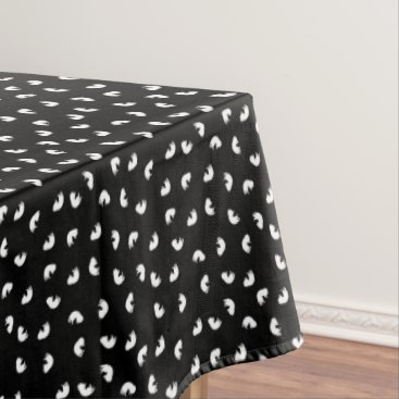 Halloween Themed CUTE Cat Pattern Black and White Tablecloth