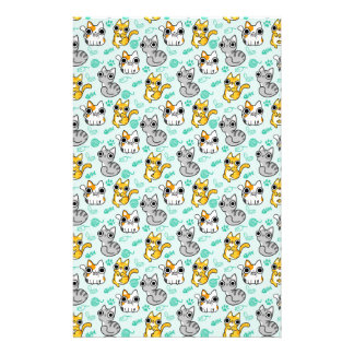 Cute Cat Pattern Stationery