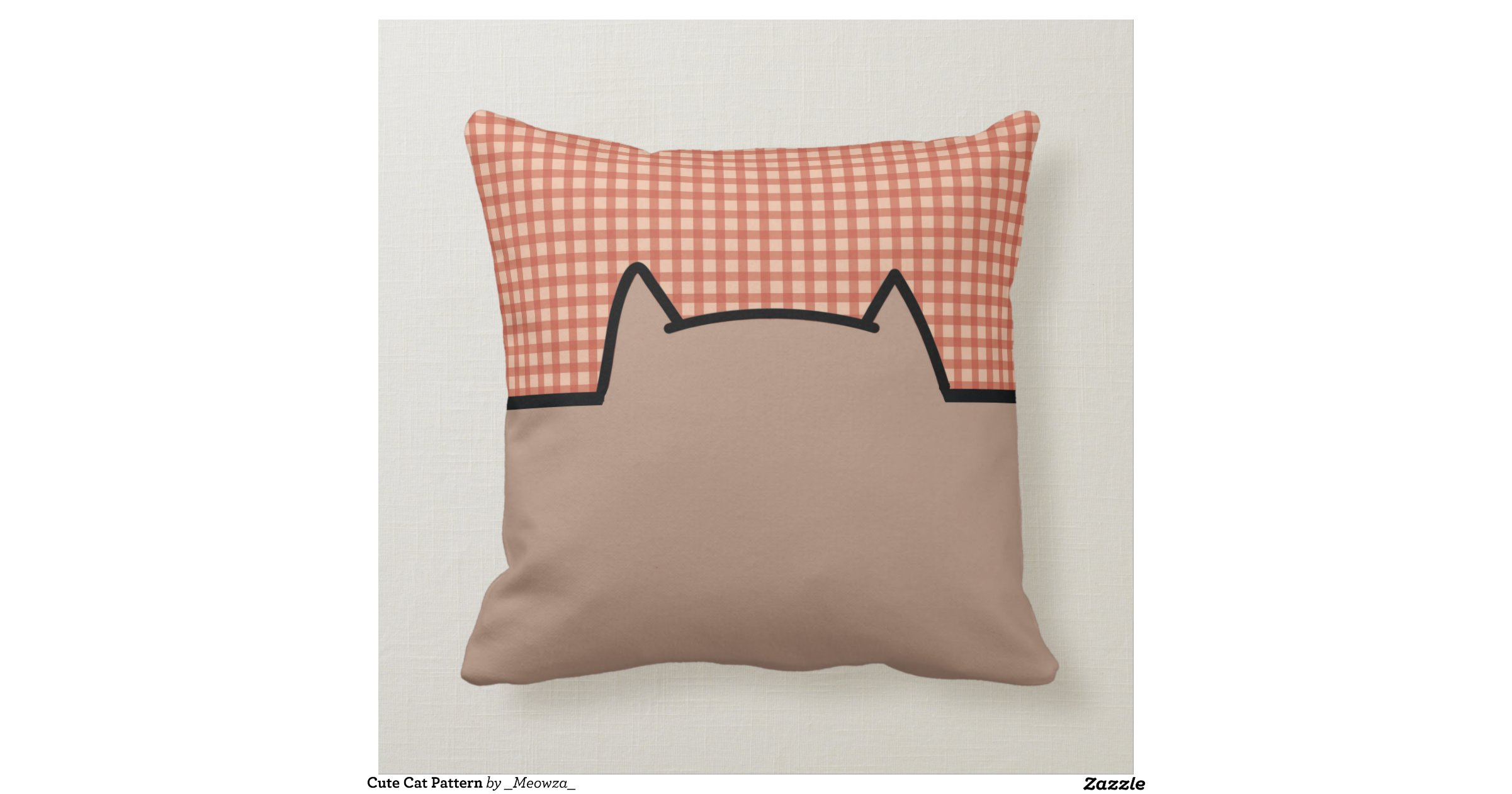 Cute Cat Pattern Throw Pillow Zazzle