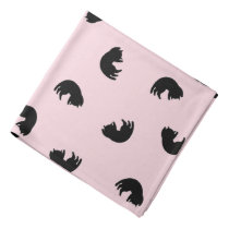 CUTE Cat Pattern w Changeable Background Color Bandana