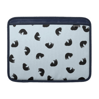 CUTE Cat Pattern w Changeable Background Color MacBook Sleeve
