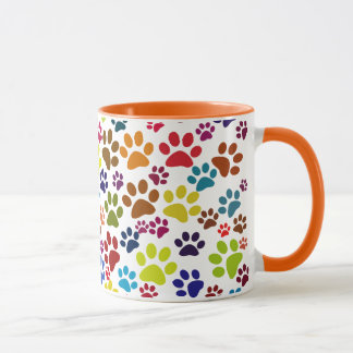 Cute Cat Paw Print Pattern Mug