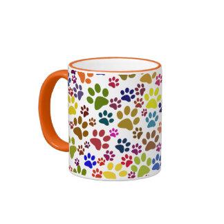 Cute Cat Paw Print Pattern Mug