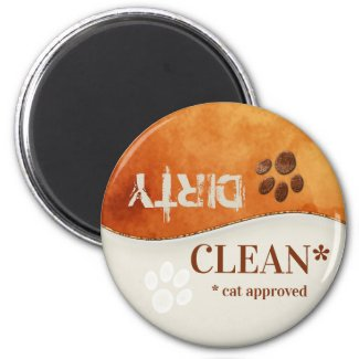 Cute Cat Paws Clean Dirty Dishwasher Magnet