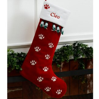 Cute Cat Personalized Christmas Stocking