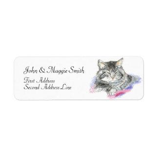 Cute Cat - Pet Collection Custom Return Address Label