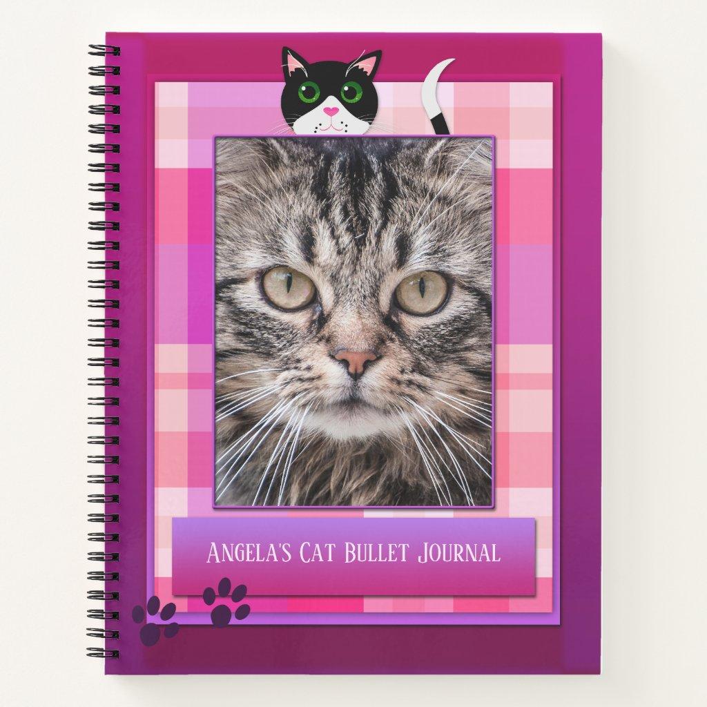 Cute Cat Photo Bullet Journal Notebook