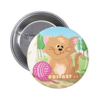 Cute cat pinback button