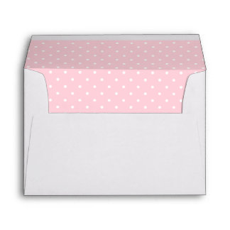 Cute Cat Pink Butterfly Dot Return Address Printed Envelope