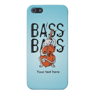Cute Cat Playing a Double Bass or Cello iPhone SE/5/5s Cover