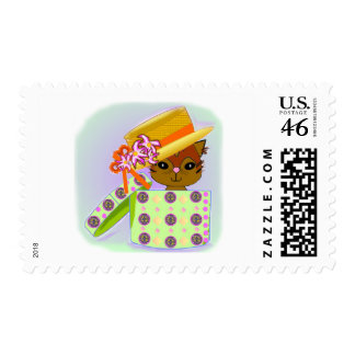 Cute Cat Postage Stamp