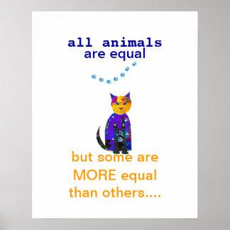 cute cat poster quotation with original art