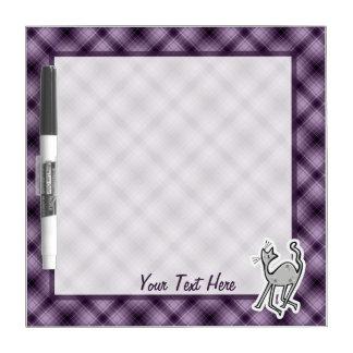 Cute Cat; Purple Dry Erase Board
