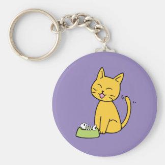 Cute Cat Purple Key Chain