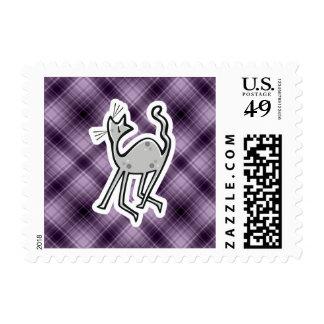 Cute Cat; Purple Postage