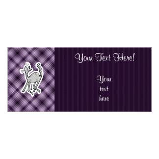Cute Cat; Purple Rack Card