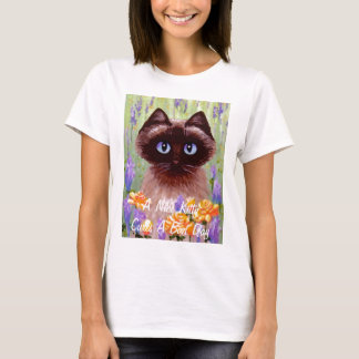 Cute Cat Ragdoll Siamese Burmese Rose Creationarts T-Shirt