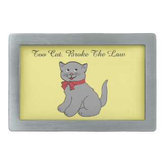 Cute Cat Rectangular Belt Buckle