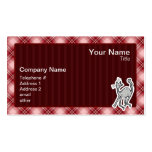 Cute Cat; Red Plaid Business Cards