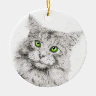 Cute Cat Round Ornament