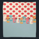 """Cute Cat Rustic Pattern Bandana<br><div class=""""desc"""">This is a cute fun cat pattern that makes the perfect gift.</div>"""