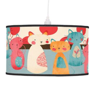 Cute Cat Rustic Pattern Hanging Lamp