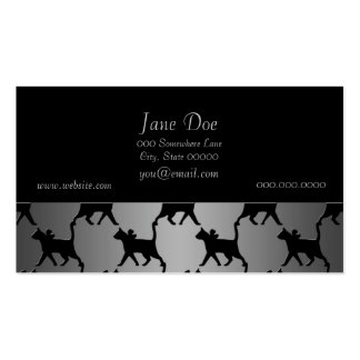 Cute Cat Silhouette Pattern Double-Sided Standard Business Cards (Pack Of 100)