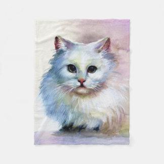 Cute Cat Small Fleece Blanket