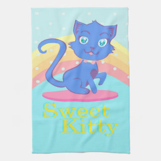 Cute cat TeaTowels Hand Towels