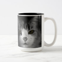 Cute Cat Two-Tone Coffee Mug