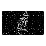 Cute Cat Typography Black White Polka Dots Double-Sided Standard Business Cards (Pack Of 100)
