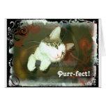 Cute cat Valentine card, Purr-fect