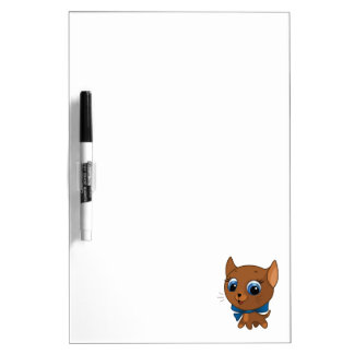 Cute cat vector illustration dry erase board