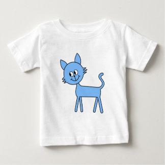 Cute Cat. Walking Pale Blue Cat. Baby T-Shirt