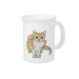 Cute Cat Watch Pitcher