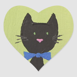 Cute cat with a bowtie stickers