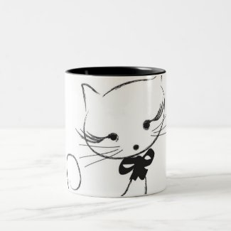 Cute Cat With Bow Mug