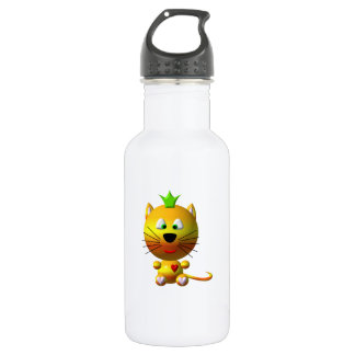 Cute Cat with Crown 18oz Water Bottle