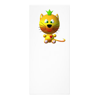 Cute cat with crown and hearts rack card