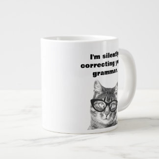 Cute cat with funny quote extra large jumbo mug