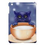 Cute Cat With Milk iPad Mini Case
