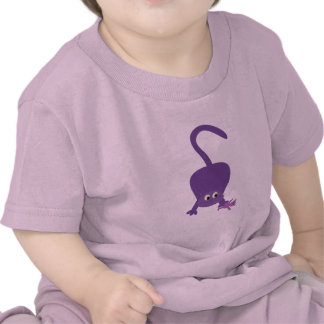 Cute cat with teddy bear pink baby tee shirt