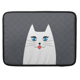 Cute cat with tongue sticking out sleeve for MacBooks