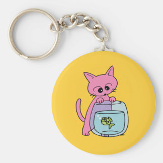 Cute Cat Yellow Keychains
