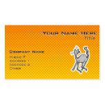 Cute Cat; Yellow Orange Business Card Template