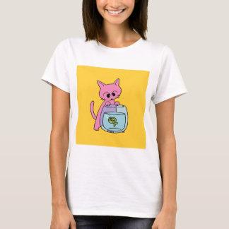 Cute Cat Yellow T-Shirt